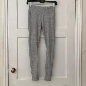 7/8 warmup outdoor voices light grey crop leggings